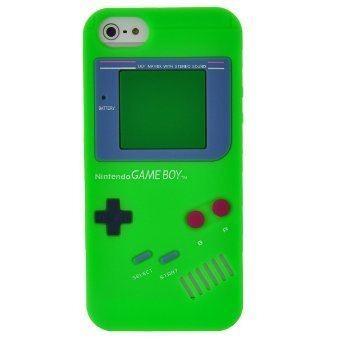 estuche gameboy  iphone 5 5s se verde macrotec