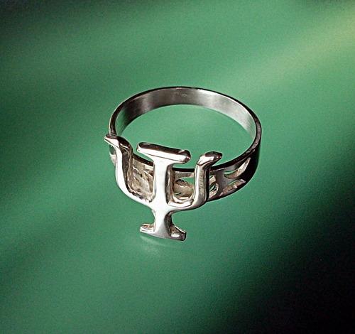 estuche grabado personalizado anillo psique psicologia plata