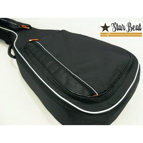 Estuche Guitarra Negro Semi Rígido
