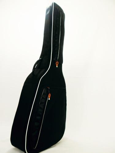 estuche guitarra negro semi rígido / juego púas envío inclui