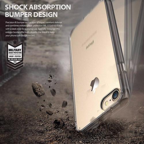 estuche hibrido ringke fusion iphone 7 shadow black