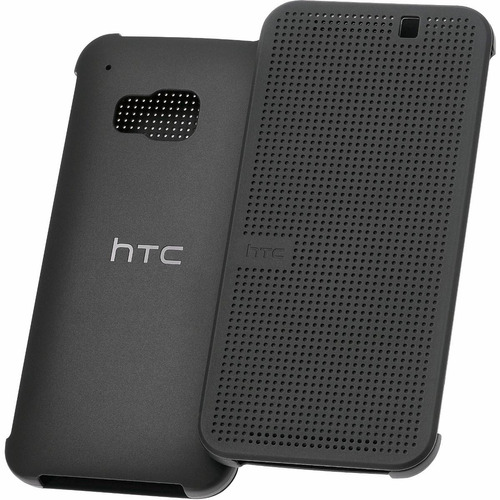estuche htc one m9 dot view original rosado negro azul flip