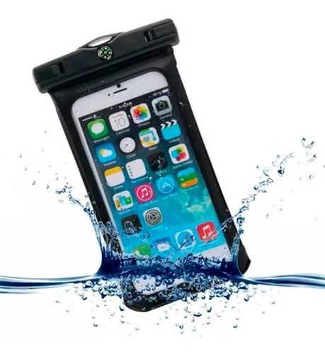 estuche impermeable celular soporte bici moto hasta 5.5 pulg