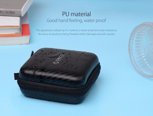 estuche impermeable para audifonos y cargador marca orico