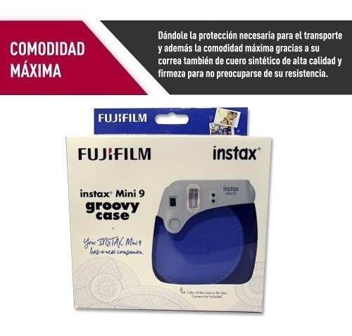 estuche instax mini fujifilm groovy case azul proglobal
