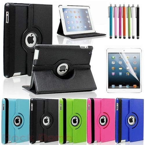 estuche ipad 2 3 4 tipo smart cover 360 + screen + lapiz
