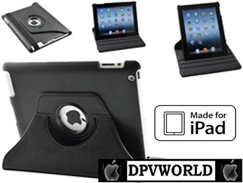estuche ipad 2 ipad 3 new ipad ipad 4 cuero giratorio 360°