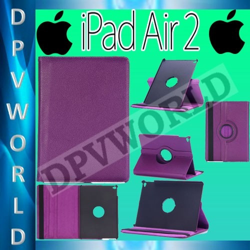 estuche ipad air 2 apple giratorio 360° agenda de cuero case
