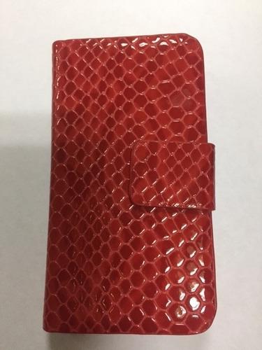 estuche  iphone 4/4s  croco rojo t/agenda t/virtual