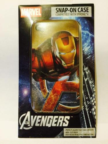estuche iphone 4/4s marvel the avengers iron man, nuevo.