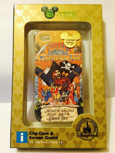 estuche iphone 4/4s piratas del caribe disney parks original