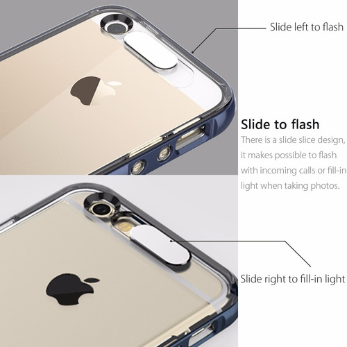 estuche iphone 5 5s se light tube flashing hybrid rock