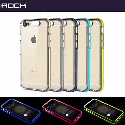 estuche iphone 6  6s 6 plus  light tube flashing hybrid rock