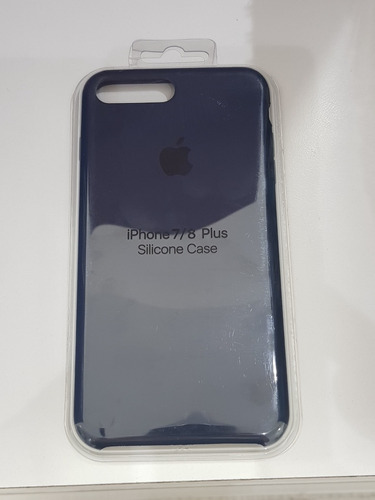 estuche iphone 7 plus y 8 plus apple silicone color azul