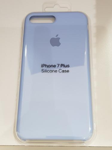 estuche iphone 7 plus y 8 plus apple silicone color celeste