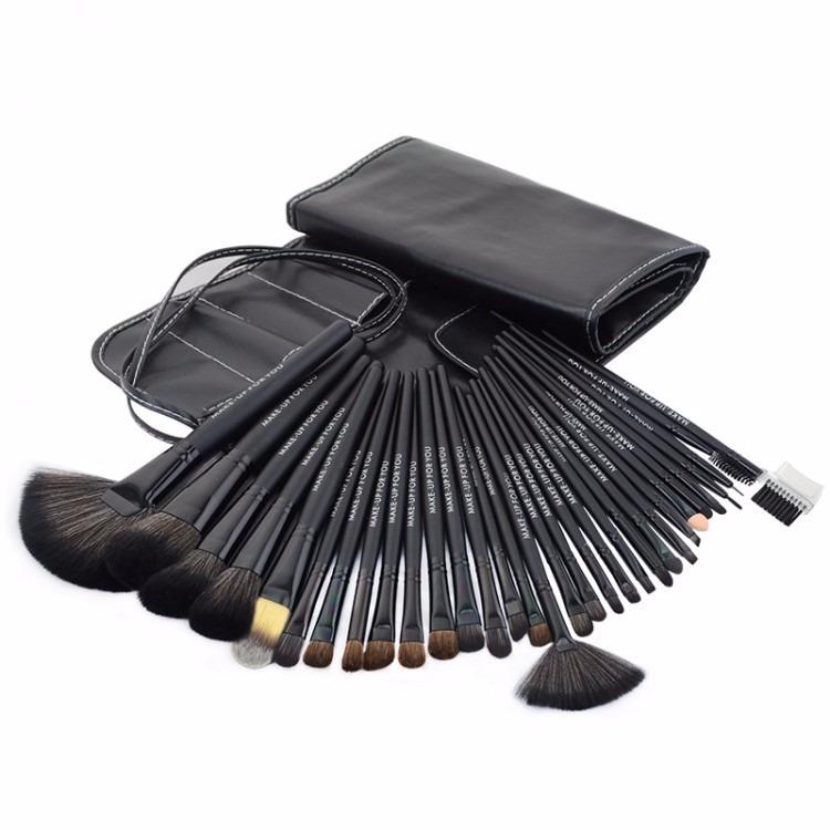 estuche kit manta de maquillaje 32 brochas y pinceles mac bs en mercado libre. Black Bedroom Furniture Sets. Home Design Ideas