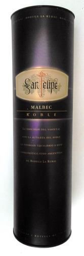 estuche lata vino fino san felipe - ideal para decoración