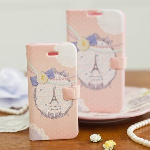 estuche love iphone 4s sintético cuerina pasta diseño