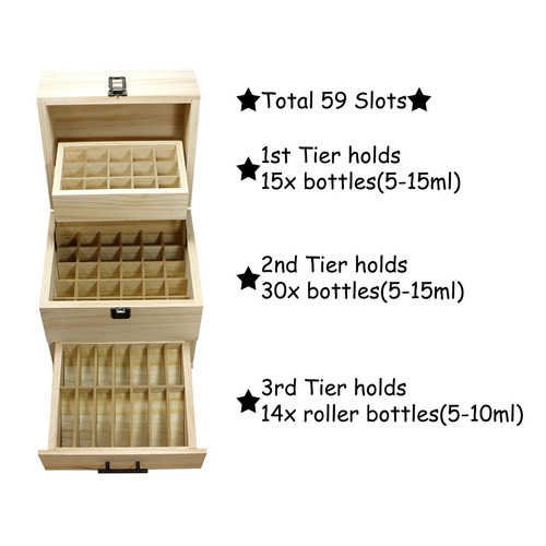 estuche madera 3 niveles aceites esenciales 59 sxc cosmetics
