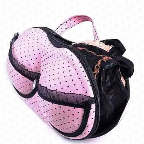 estuche maleta organizador bra porta brasier leopardo m2203