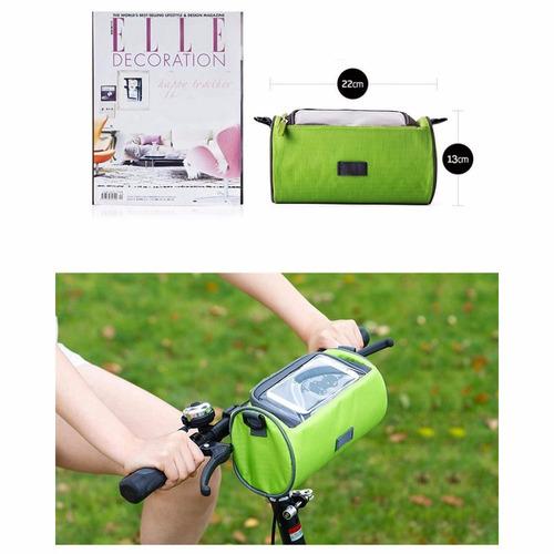 estuche maletin impermeable celular bicicleta ciclismo