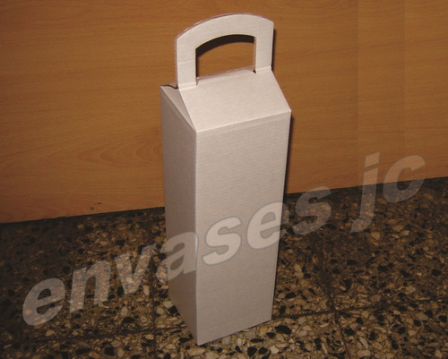 estuche navideño cartón microcorrugado caja 1 botella vino