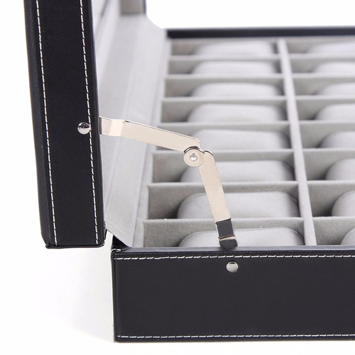 estuche organizador  24 relojes caja cuero songmics