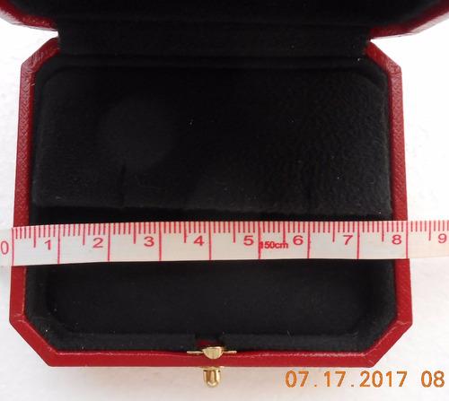 estuche original cartier para aretes c / caja exterior