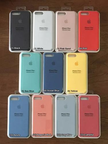 estuche original iphone 7 apple 7 plus silicone case pereira