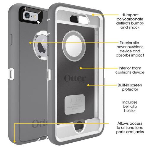 estuche otterbox defender para apple  iphone 6 6s