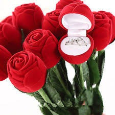 estuche para anillo de boda o compromiso... precioso