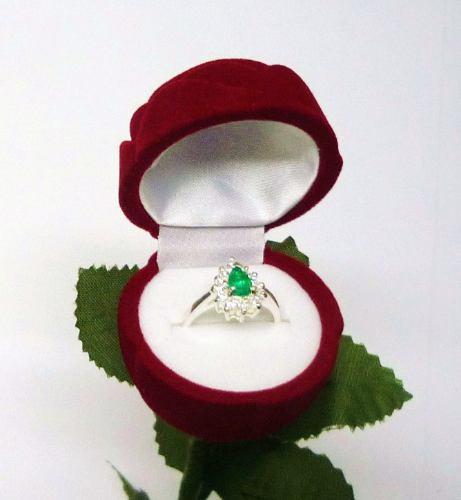estuche para anillos de plata oro joyas compromiso madre