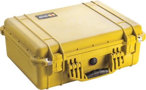 estuche para cámara pelican 1500 con espuma (amarillo)