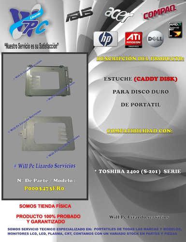 estuche para disco duro toshiba 2400 s201