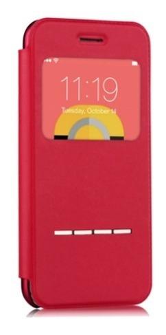 estuche para iphone 6 plus/6s plus tipo folio devia en rojo