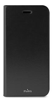 estuche para iphone 6/6s tipo folio puro en negro