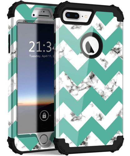 estuche para iphone 8 plus / 7 plus con diseño de mármol,