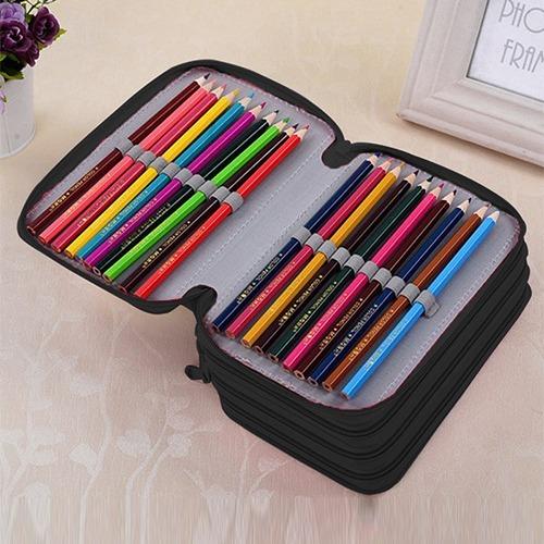 bastante baratas lujo personalizadas Estuche Para Lapices 75 Espacios 20x12x7cm Colores Lapicera Organizador  Portalapices Colores Lapisera No Incluye Lápices