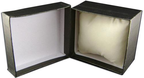 estuche para reloj carton almohadilla pesia 7,5 x 8,5 x 5 cm
