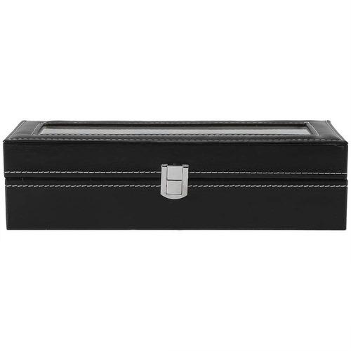 estuche para relojes caja exhibidor alajero relojero con almohadillas capacidad de 6 piezas envio gratis