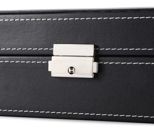 estuche para relojes caja exhibidor alajero relojero con almohadillas capacidad de 8 piezas y joyas