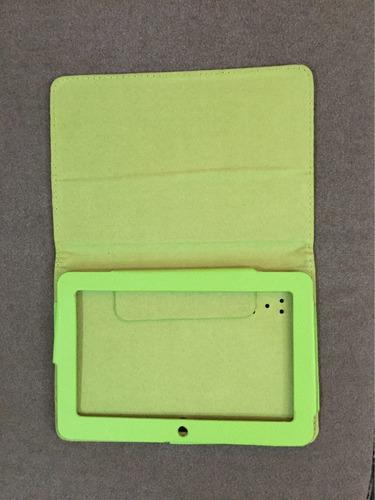 estuche para table color verde nuevo
