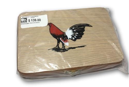 estuche para una docenas de navajas de gallo envio gratis