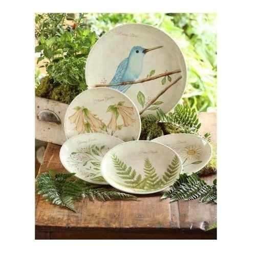 estuche plato pando + 4 platos postre lovely garden