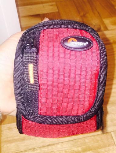 estuche porta camara fotos lowepro con bolsillos