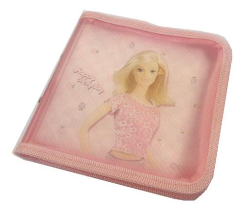 estuche porta cd dvd 20 u plastico rosa infantil e5544