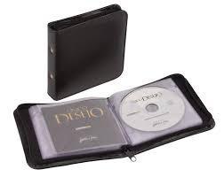 estuche porta cd /dvd p/40 unid cierre divisores afelpados