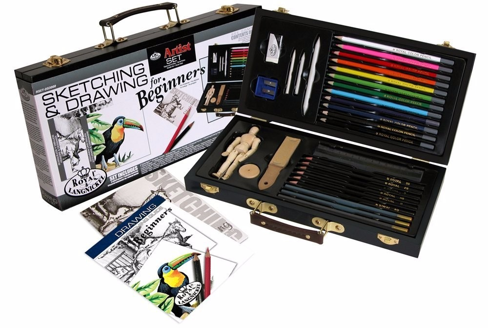 Estuche profesional lapices de colores para dibujar for Watercolor supplies for beginners