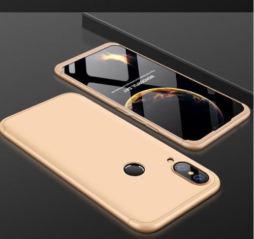 estuche protector 360  huawei p20 lite dorado+ vidrio 3d