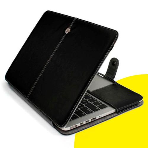 estuche protector en cuero para mac book air pro retina